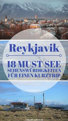 You are planning a short trip to Reykjavik or want to make the most of a stopover in Iceland? Here I show you how to see the 18 most important Reykjavik attractions in a short time. Europe Destinations, Places In Europe, Island Reykjavik, Attraction, Travel Through Europe, Reisen In Europa, Iceland Travel, Short Trip, Travel Gifts