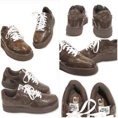 size 40 ea7a8 4f340 Vintage Nike Air Force x Louis Vuitton Men Size 10 Nike Af1, Vintage Nike,