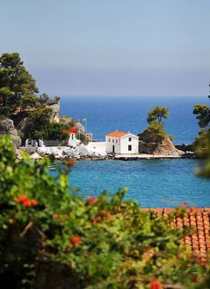 Church of Panagia, Parga , Greece Ocean Pictures, Go Greek, Greek Isles, Beautiful Places In The World, Thessaloniki, Greece Travel, The Good Place, National Parks, Places To Visit