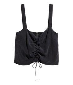 Cropped top | Black | Ladies | H&M AE