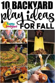 10 Fun, Free Fall Activities for toddlers and preschoolers to do in the backyard. Great outdoor play ideas for  home, preschool or homedaycare! #HappyHooligans #Toddlers #Preschoolers #HomeDaycare #Preschool #Outdoor #Activities #Backyard #Play #Playbased #LearnThroughPlay #GrossMotor #Fall #Autumn #Toddlers #Preschoolers #Kids