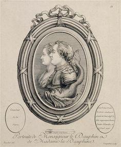 Monseigneur le dauphin et de Madame la Dauphine, mid 18th century engraving by Madame Pompadour (Réunion des Musées Nationaux-Grand Palais)