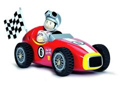 Le Toy Van Red Racer  #woodentoy #ethicaltoys #learnthroughplay #fairtrade #retrotoys #car