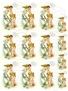Shabby Chic Vintage Easter digital collage sheet for scrapbook and cards  DC370 by shabbybeautiful, $2.49 USD