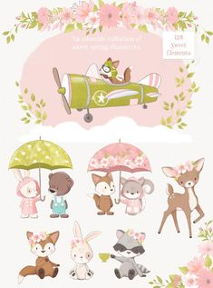 Iphone Wallpapers, Squirrel Clipart, Event Invitation Design, Floral Umbrellas, Clip Art, Spring Projects, Surface Pattern Design, Pattern Designs, Backdrops For Parties