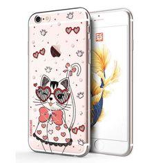 Coque iPhone 6 / 6s Animal Swarovski - Chat