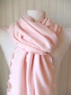 Pink Jersey Ruffled Scarf. Looks so soft.