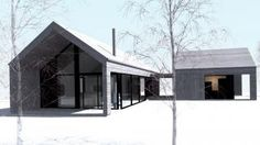 Skagsnebb Black Shed, Modern Barn House, House Extensions, Home Fashion, Beautiful Homes, Architecture Design, House Plans, New Homes, Cottage