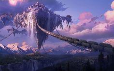 floating islands fantasy - Google Search