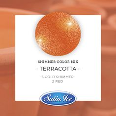 How to mix a sparkling Terracotta Orange color using the new Satin Ice Gold Shimmer fondant! Method: Mix 5 parts Gold Shimmer with 2 parts classic Satin Ice Red fondant. ✨Knead until fully combined. Satin Ice Fondant, Icing Colors, Fondant Decorations, Vanilla Flavoring, Red Satin, Food Coloring, Polymer Clay Jewelry, Terracotta, Color Mixing