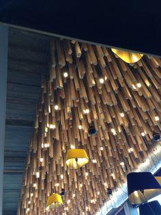 Деревянные рейки потолок