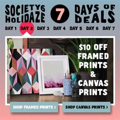 http://society6.com/georgianaparaschiv/framed-prints http://society6.com/georgianaparaschiv/canvas $10 Off Framed & Canvas Art Prints + Free Shipping Worldwide. Available on 12/9/14.