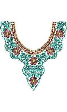 Boho Chic | Neck Yoke Gala Embroidery Design