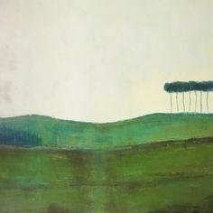 Green lonely landscape Irish Landscape, Contemporary Landscape, Oil On Canvas, Canvas Art, Original Art, Original Paintings, Landscape Paintings, Landscapes, Buy Art