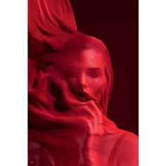Vanessa Moody Is Fiery In Camilla Akrans' Seeing Red Images For Vogue... ❤ liked on Polyvore featuring backgrounds, art, pics, women, head and filler