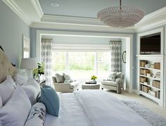 The Best Benjamin Moore Paint Colors - Home Bunch - An Interior Design & Luxury Homes Blog. Love the recessed bookshelf.