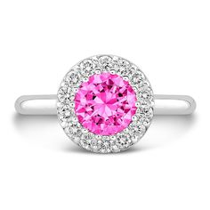 Dafina Tall Ultra Merlot (Pink Sapphire with Diamonds) on dafinajewelry.com #engagementrings #rings