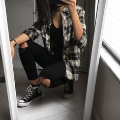 wanderrkid — flannelz yup flannel outfits flannel outfits ideas flannel outfits for women. Grunge Style Outfits, Tomboy Outfits, Cute Casual Outfits, Mode Outfits, Retro Outfits, Simple Outfits, Boyish Outfits, Tomboy Clothes, Teenage Outfits