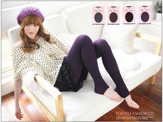 Knit Stirrup Tights, Black , One Size - Tokyo Fashion | YESSTYLE
