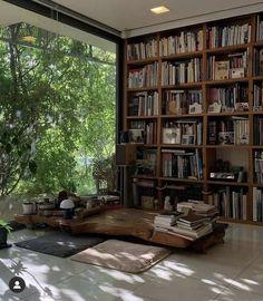 Bookcase, Bookshelves, Industrial Interior Design, Nice View, Interior Decorating, Decor Interior Design, Room Inspiration, Sweet Home, Home Decor