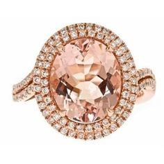 Color Jewels Morganite Ring  #Jewelry #Rings #Cutefinds