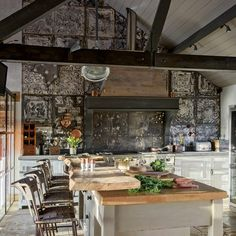 Give a barn kitchen a contemporary lived-in finish