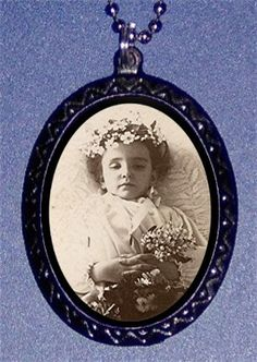 Victorian Post Mortem Child Dead Girl Goth by sweetheartsinner, $7.00