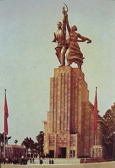 Pabellón soviético en la Exposición Internacional de París, 1937.