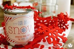 Easy DIY Can of Snow and Free Printable