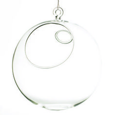 """6"""" Hanging Glass Globe - Floral Supply Syndicate - Floral Gift Basket and Decorative Packaging Materials"""