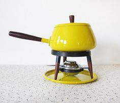 I lived in Switzerland for two years--and I'm obsessed with Fondue. LOVE this1960s Fondue Pot!
