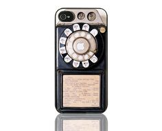 Iphone 5 case--vintage  style telephone  with apple  No.134. $4.99, via Etsy.