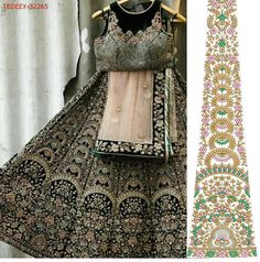 Machine Embroidery Patterns, Embroidery Designs, Green Lehenga, Maggam Works, Ghagra Choli, Lehenga Designs, How To Dye Fabric, Design Patterns, Indian Bridal