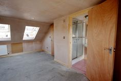 loft conversion ideas with ensuite Dormer Loft Conversion, Loft Conversion Bedroom, Loft Conversions, Loft Ensuite, Bedroom Loft, Loft Spaces, Double Bedroom, New Room, Apartment Ideas