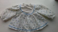 Tiny #tears #dress for #1970s, 16h doll. pale blue floral, with white yoke. vgc.,  View more on the LINK: 	http://www.zeppy.io/product/gb/2/132067739586/