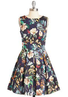 Ain't We Haute Fun? Dress in Garden | Mod Retro Vintage Dresses | ModCloth.com
