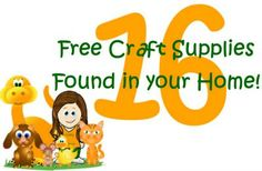 Check out 16 free craft supplies you have in your house!
