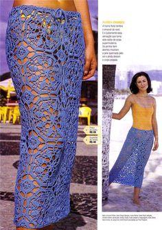Easy to do! crochet skirt from motifs
