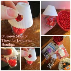 Make A  Lamp For Your Dolls from a lamp shaped air freshener