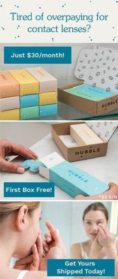 Hubble was started because contact lenses are too expensive. Our fresh, daily contacts are affordable and delivered straight to you!