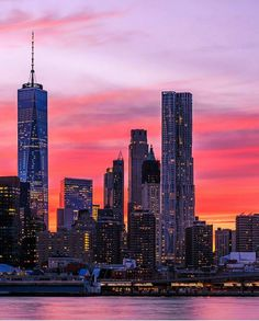 Sunset in New York by killahwave by newyorkcityfeelings.com - The Best Photos and Videos of New York City including the Statue of Liberty Brooklyn Bridge Central Park Empire State Building Chrysler Building and other popular New York places and attractions.