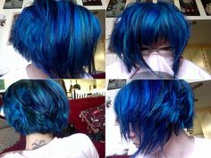 looks great on fair skin. I want to rock this hair color too. A Perfect color to complement my dark skin. Grey Hair Wax, Pelo Emo, Hair Color And Cut, Grunge Hair, Mermaid Hair, Crazy Hair, Rainbow Hair, Hair Today, Hair Dos