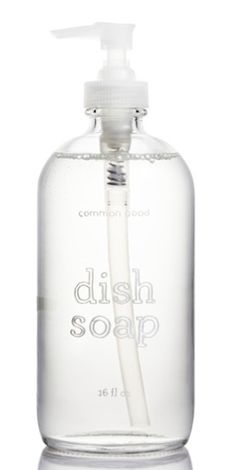 Common Good Dish Soap (L) in a reusable, refillable glass bottle is $18 at Gessato. Daylesford Natural Washing-Up Liquid is £2.24 at Ocado in the UK.