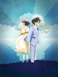 The Wind Rises from Hayao Miyazaki by Julie Luke Totoro, Pixar, Le Vent Se Leve, Pom Poko, Wind Rises, The Cat Returns, Rise Art, Studio Ghibli Movies, Howls Moving Castle
