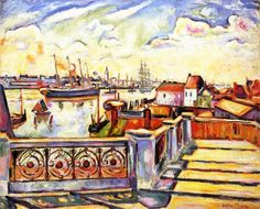 "Othon Friesz:  ""The Port of Anvers"""