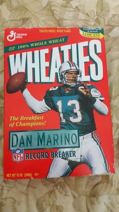 wheaties collectable dan marino sealed box from $9.5
