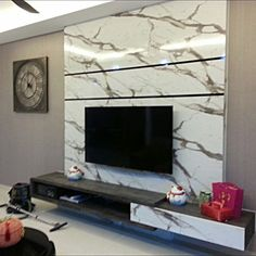 tv console with feature wall Modern Furniture, Wall Tv Stand, Living Room Partition, Tv Console, Wall, Feature Wall, Interior Design, Living Room Tv Wall, Wall Unit
