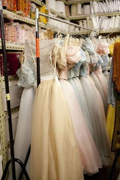 ballet costumes in storage