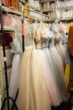 ballet costumes in storage