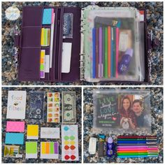 How to arrange and organise Filofax. What stationary accessories to use. Very Colourful.
